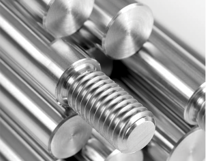 Induction hardened and hard chrome plated steel bars